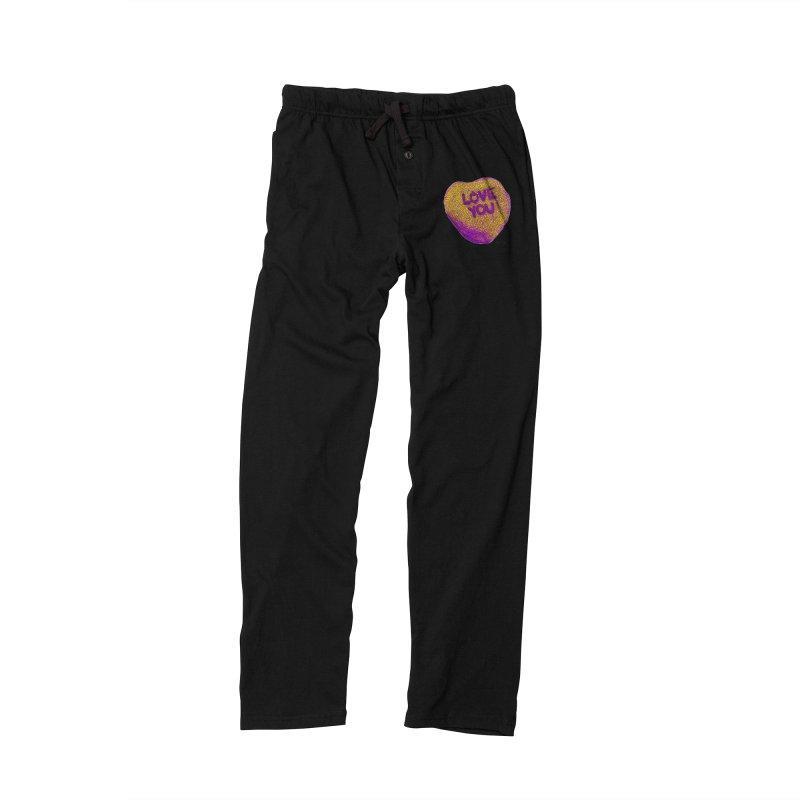LOVE YOU Electric Yellow Women's Lounge Pants by Daniel Dugan's Artist Shop