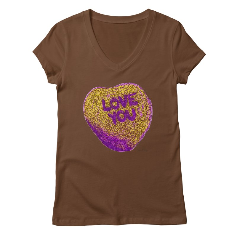 LOVE YOU Electric Yellow   by Daniel Dugan's Artist Shop