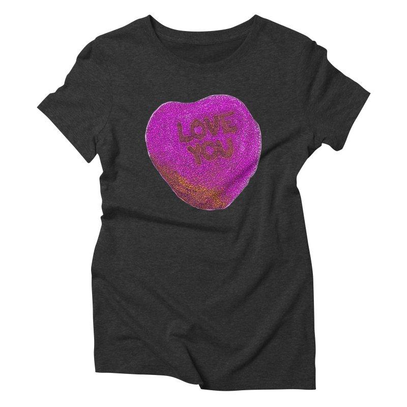LOVE YOU Electric Pink + Orange   by Daniel Dugan's Artist Shop