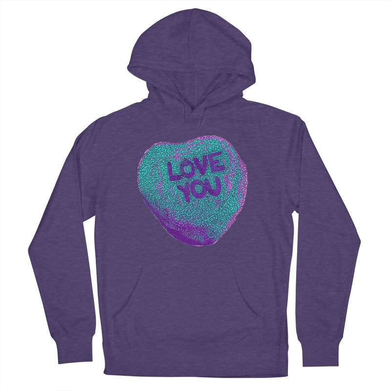 LOVE YOU Electric Mint Women's Pullover Hoody by Daniel Dugan's Artist Shop