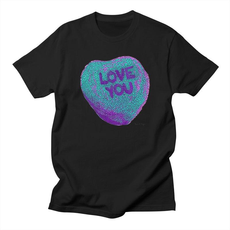 LOVE YOU Electric Mint Women's Unisex T-Shirt by Daniel Dugan's Artist Shop
