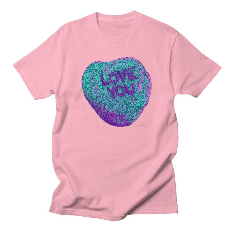 LOVE YOU Electric Mint Men's T-shirt by Daniel Dugan's Artist Shop