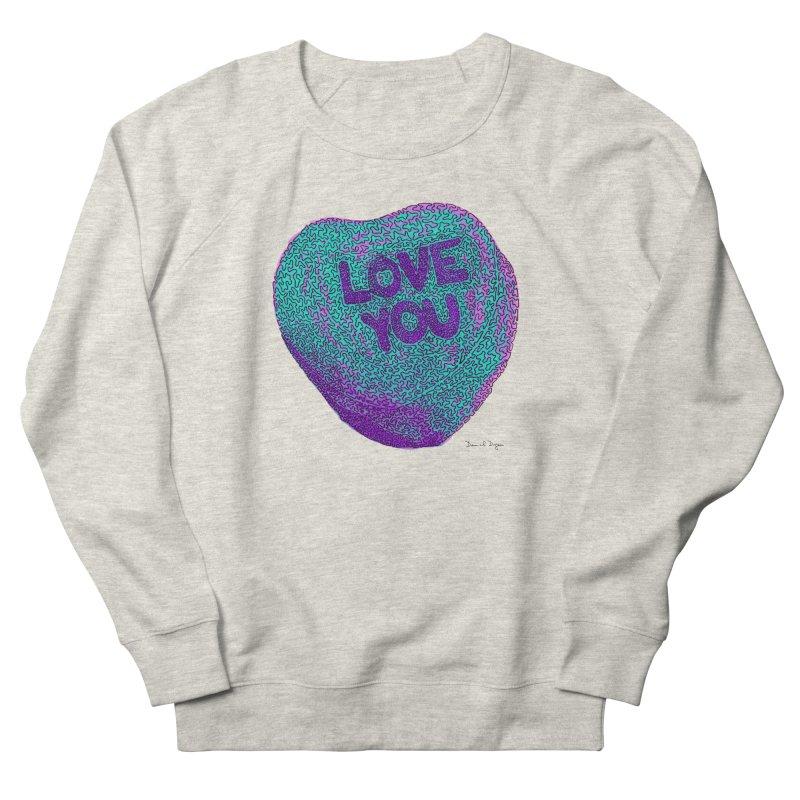 LOVE YOU Electric Mint Women's Sweatshirt by Daniel Dugan's Artist Shop