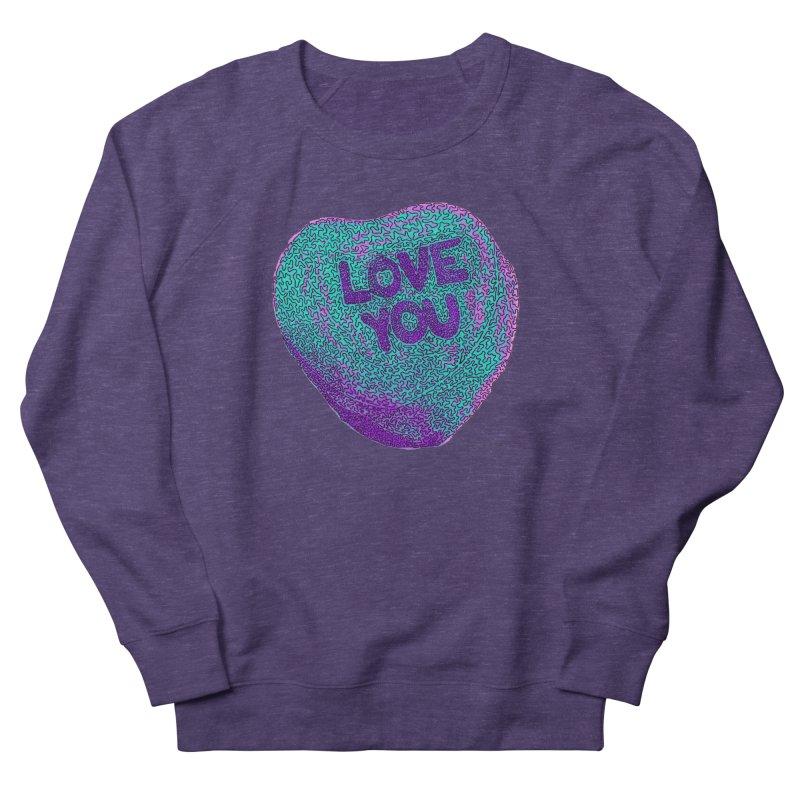 LOVE YOU Electric Mint Men's Sweatshirt by Daniel Dugan's Artist Shop