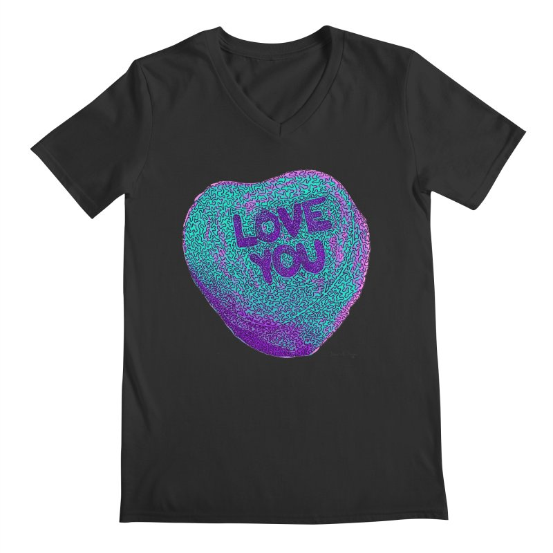LOVE YOU Electric Mint   by Daniel Dugan's Artist Shop