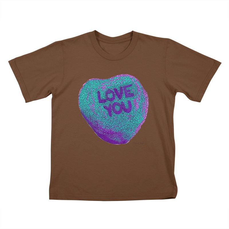 LOVE YOU Electric Mint   by Daniel Dugan's Artist Shop