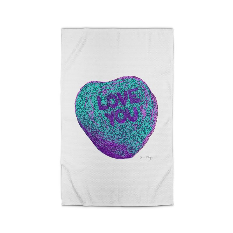 LOVE YOU Electric Mint Home Rug by Daniel Dugan's Artist Shop