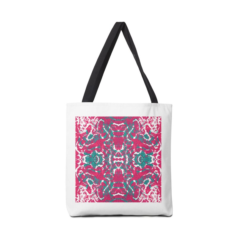 Magenta Teal Tile Accessories Bag by Daniel Dugan's Artist Shop
