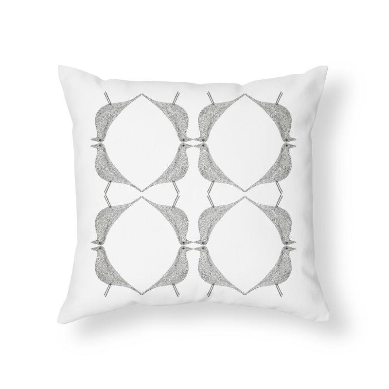 Bird Talk Home Throw Pillow by Daniel Dugan's Artist Shop