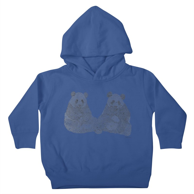Playing Pandas BLACK AND WHITE Kids Toddler Pullover Hoody by Daniel Dugan's Artist Shop