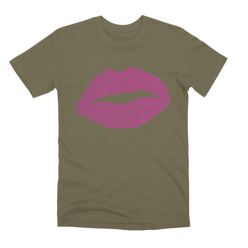 Kisses Are the Answer Men's Premium T-Shirt by Daniel Dugan's Artist Shop