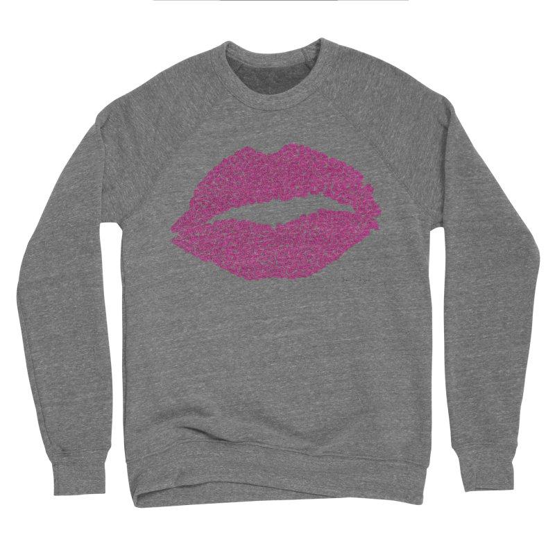 Kisses Are the Answer Men's Sponge Fleece Sweatshirt by Daniel Dugan's Artist Shop