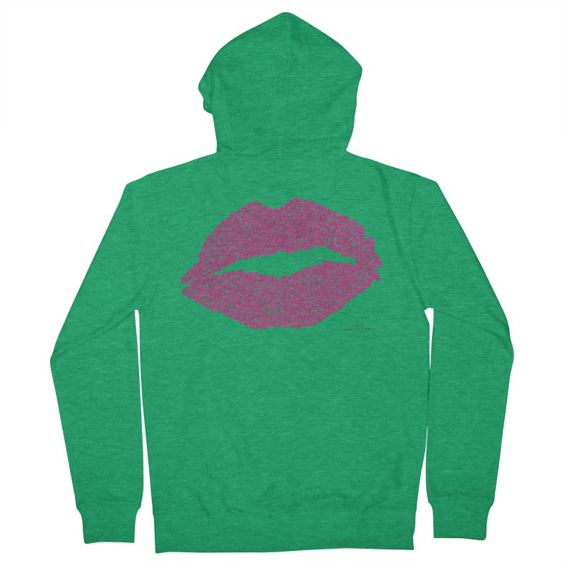 Kisses Are the Answer Women's Zip-Up Hoody by Daniel Dugan's Artist Shop