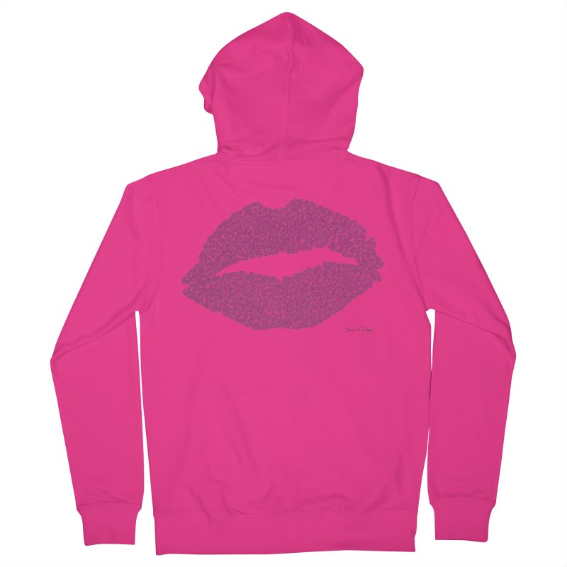 Kisses Are the Answer Men's Zip-Up Hoody by Daniel Dugan's Artist Shop