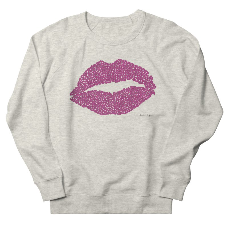 Kisses Are the Answer Women's French Terry Sweatshirt by Daniel Dugan's Artist Shop