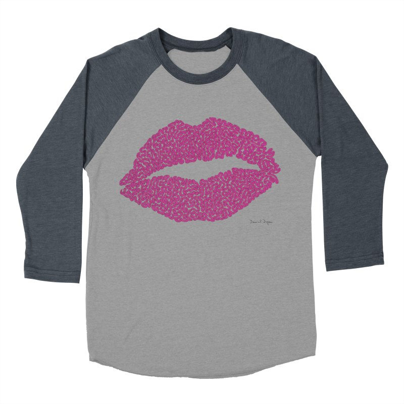 Kisses Are the Answer Women's Baseball Triblend Longsleeve T-Shirt by Daniel Dugan's Artist Shop
