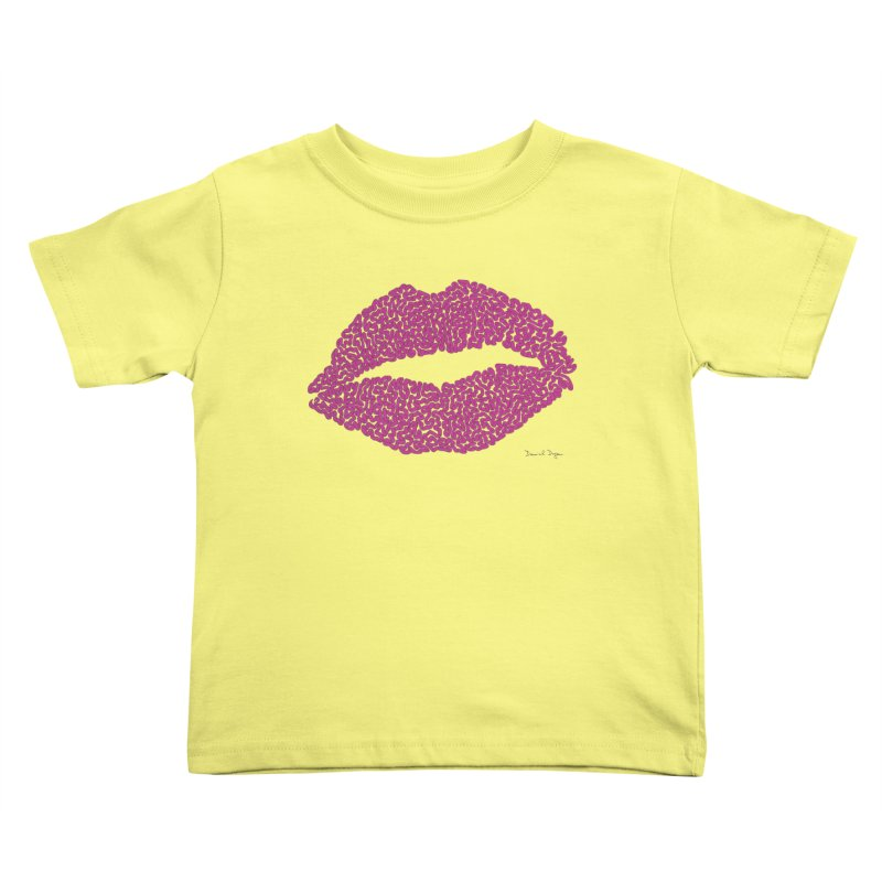 Kisses Are the Answer Kids Toddler T-Shirt by Daniel Dugan's Artist Shop