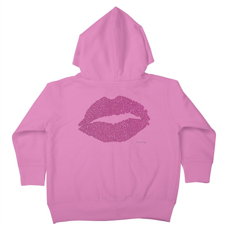 Kisses Are the Answer Kids Toddler Zip-Up Hoody by Daniel Dugan's Artist Shop