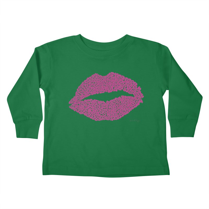 Kisses Are the Answer Kids Toddler Longsleeve T-Shirt by Daniel Dugan's Artist Shop