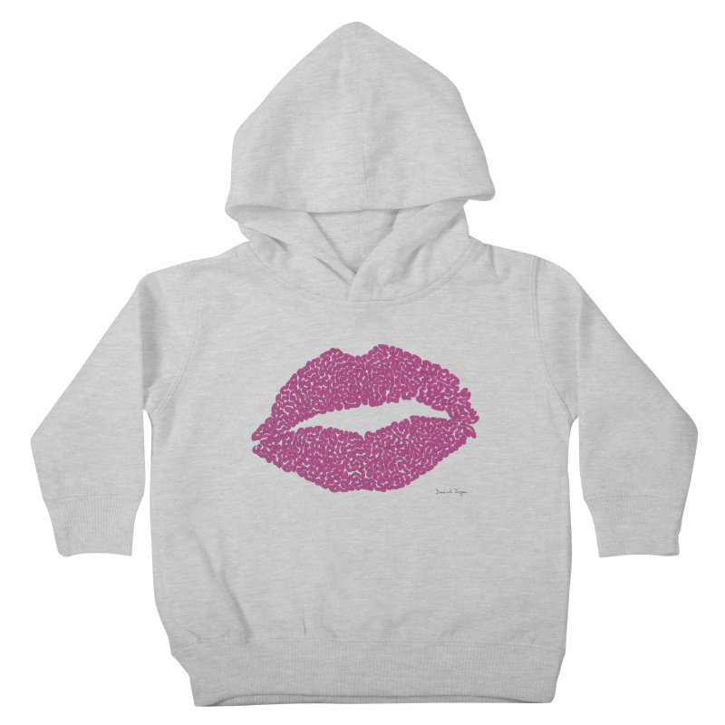 Kisses Are the Answer Kids Toddler Pullover Hoody by Daniel Dugan's Artist Shop