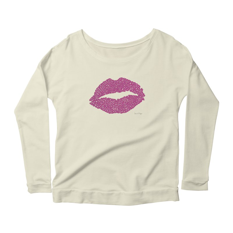 Kisses Are the Answer Women's Scoop Neck Longsleeve T-Shirt by Daniel Dugan's Artist Shop