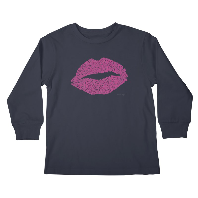 Kisses Are the Answer Kids Longsleeve T-Shirt by Daniel Dugan's Artist Shop