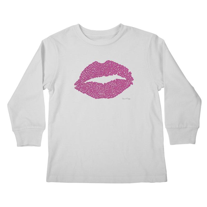 Kisses Are the Answer Kids Longsleeve T-Shirt by Daniel Dugan's Artist Shop