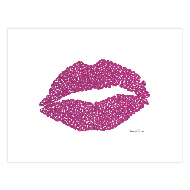 Kisses Are the Answer Home Fine Art Print by Daniel Dugan's Artist Shop