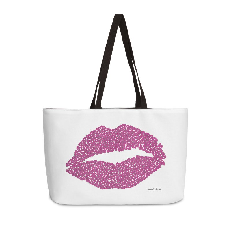 Kisses Are the Answer Accessories Weekender Bag Bag by Daniel Dugan's Artist Shop