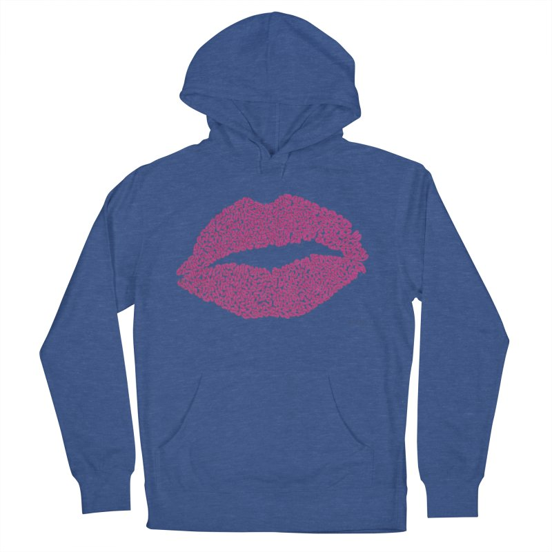 Kisses Are the Answer - One Continuous Line Women's French Terry Pullover Hoody by Daniel Dugan's Artist Shop