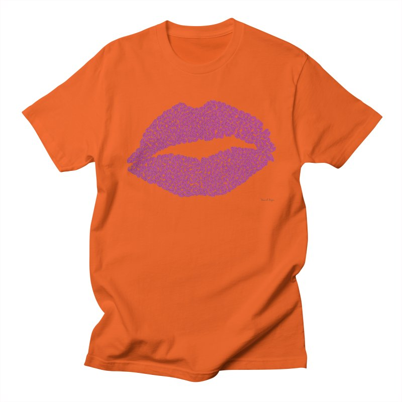 Kisses Are the Answer - One Continuous Line Women's Regular Unisex T-Shirt by Daniel Dugan's Artist Shop