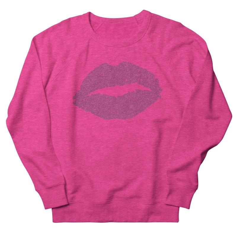 Kisses Are the Answer - One Continuous Line Men's French Terry Sweatshirt by Daniel Dugan's Artist Shop