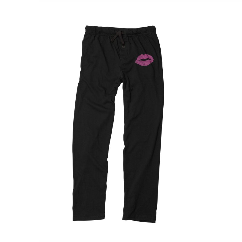 """""""Kisses are the Answer"""" Magenta Lips Pillows & more Women's Lounge Pants by Daniel Dugan's Artist Shop"""