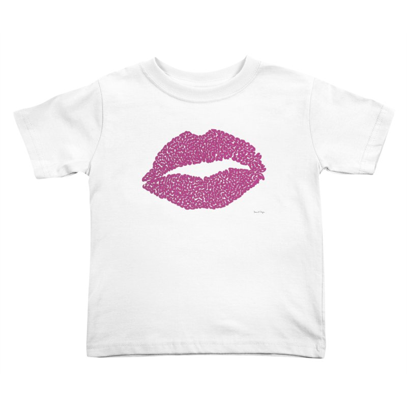 """Kisses are the Answer"" Magenta Lips   by Daniel Dugan's Artist Shop"