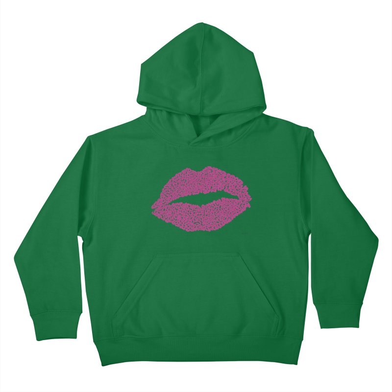 Kisses Are the Answer Kids Pullover Hoody by Daniel Dugan's Artist Shop
