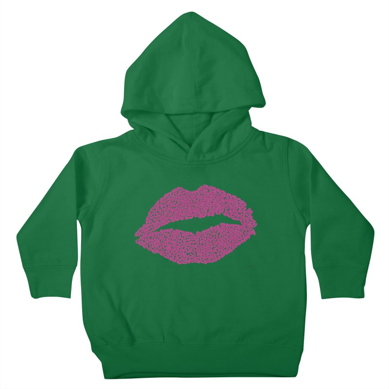 Kisses Are the Answer - One Continuous Line Kids Toddler Pullover Hoody by Daniel Dugan's Artist Shop