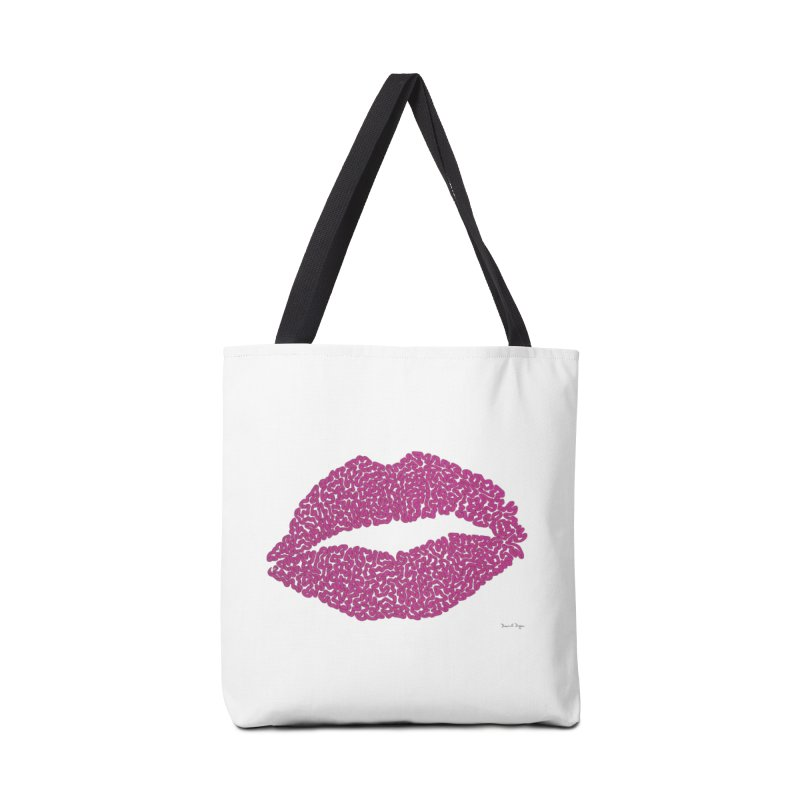 """""""Kisses are the Answer"""" Magenta Lips Pillows & more Accessories Bag by Daniel Dugan's Artist Shop"""