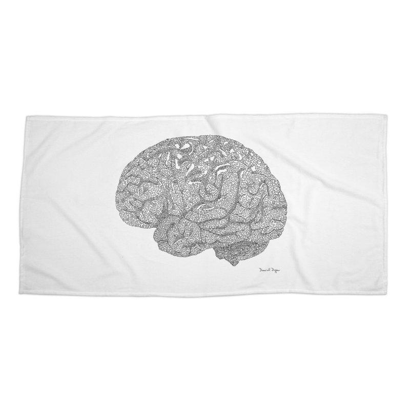 Brain Work Accessories Beach Towel by Daniel Dugan's Artist Shop