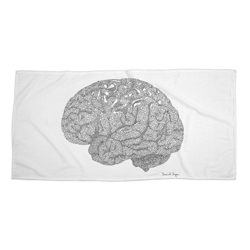 Brain Accessories Beach Towel by Daniel Dugan's Artist Shop
