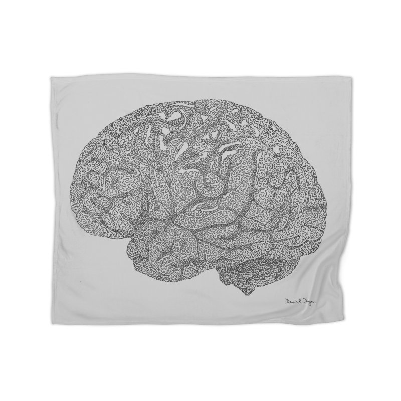 Brain Work Home Fleece Blanket Blanket by Daniel Dugan's Artist Shop