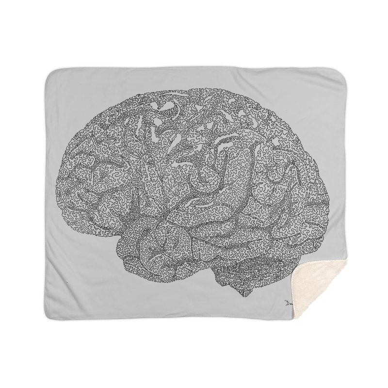 Brain Work Home Sherpa Blanket Blanket by Daniel Dugan's Artist Shop