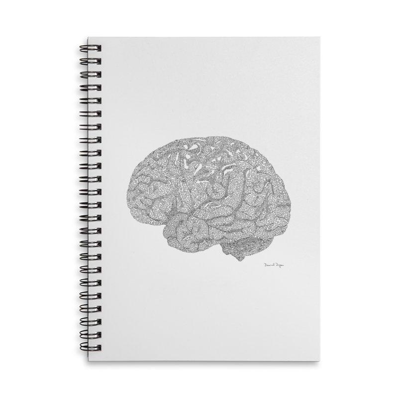 Brain Work Accessories Lined Spiral Notebook by Daniel Dugan's Artist Shop