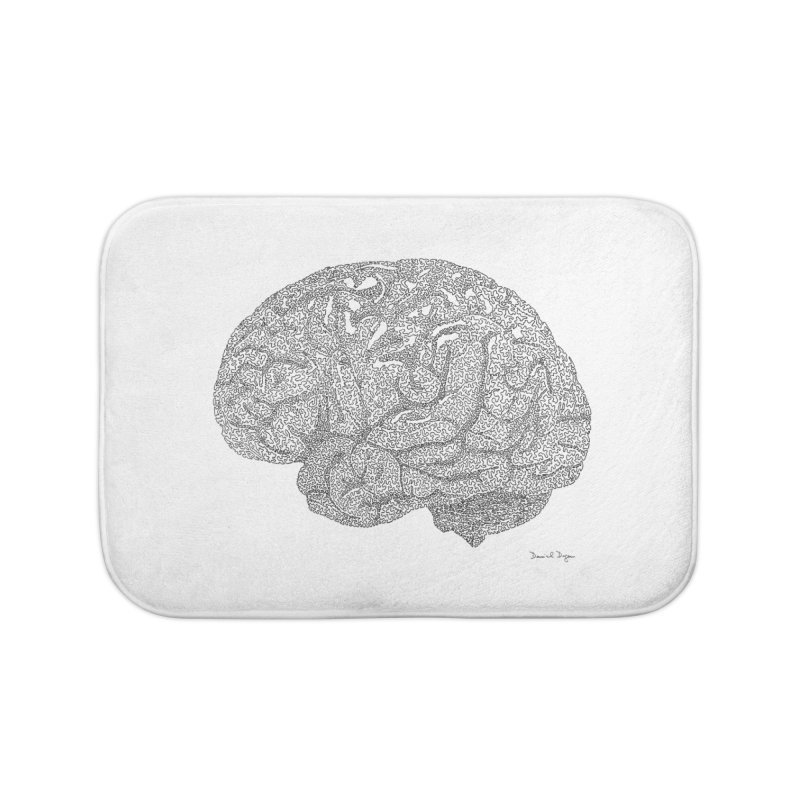 Brain Work Home Bath Mat by Daniel Dugan's Artist Shop