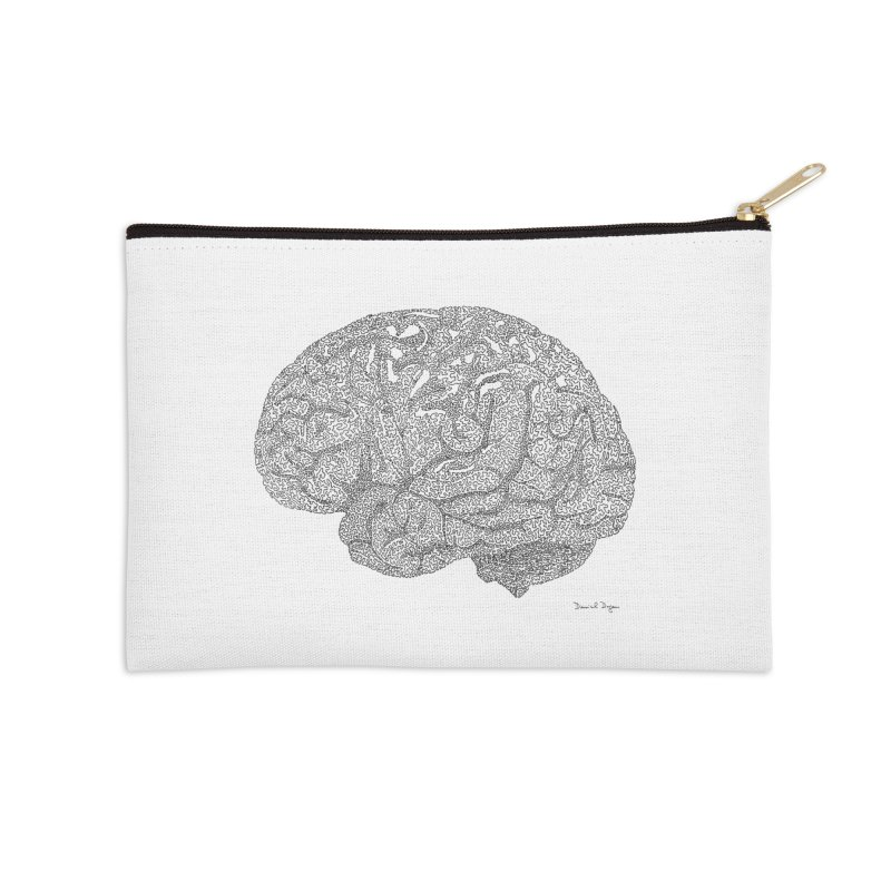 Brain Work Accessories Zip Pouch by Daniel Dugan's Artist Shop