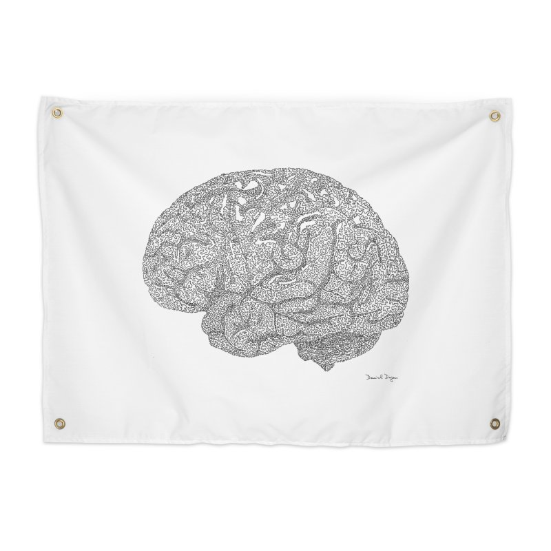 Brain Work Home Tapestry by Daniel Dugan's Artist Shop