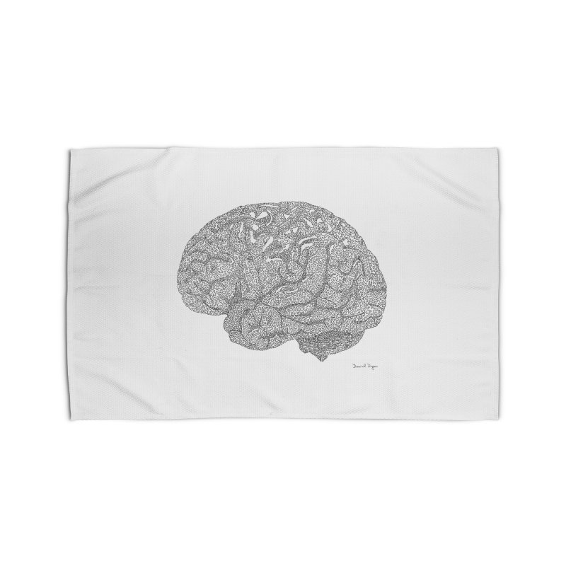Brain Work Home Rug by Daniel Dugan's Artist Shop