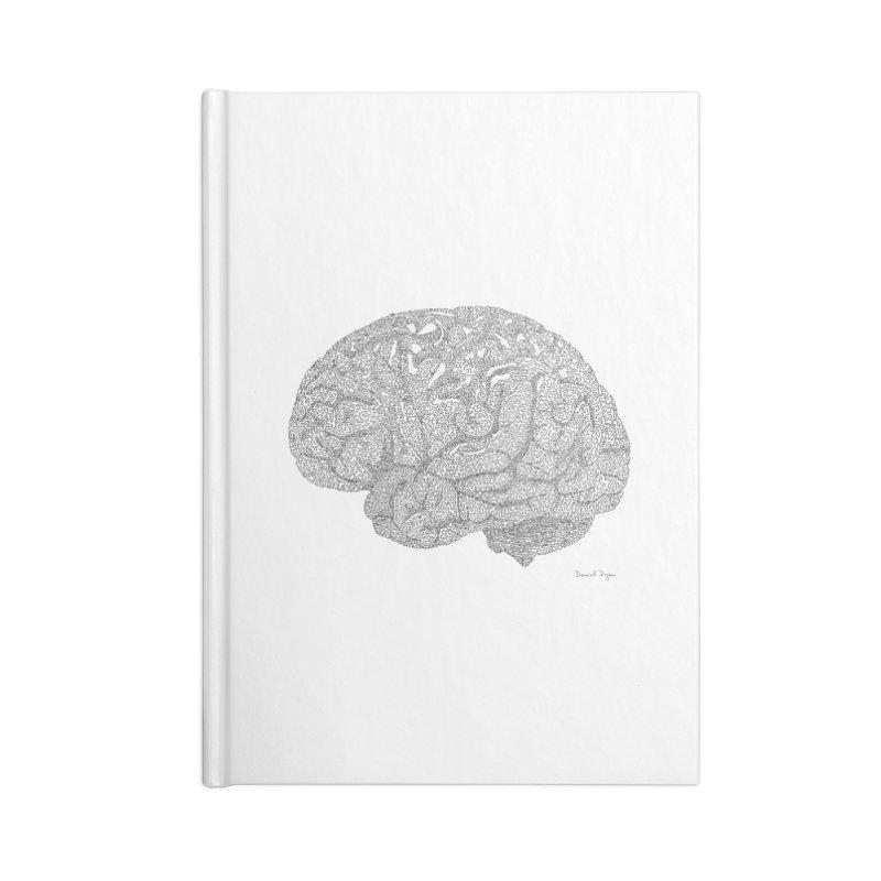 Brain Work Accessories Lined Journal Notebook by Daniel Dugan's Artist Shop