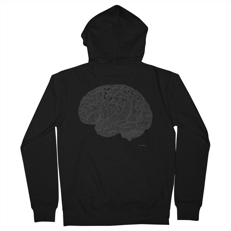 Brain Work Men's Zip-Up Hoody by Daniel Dugan's Artist Shop