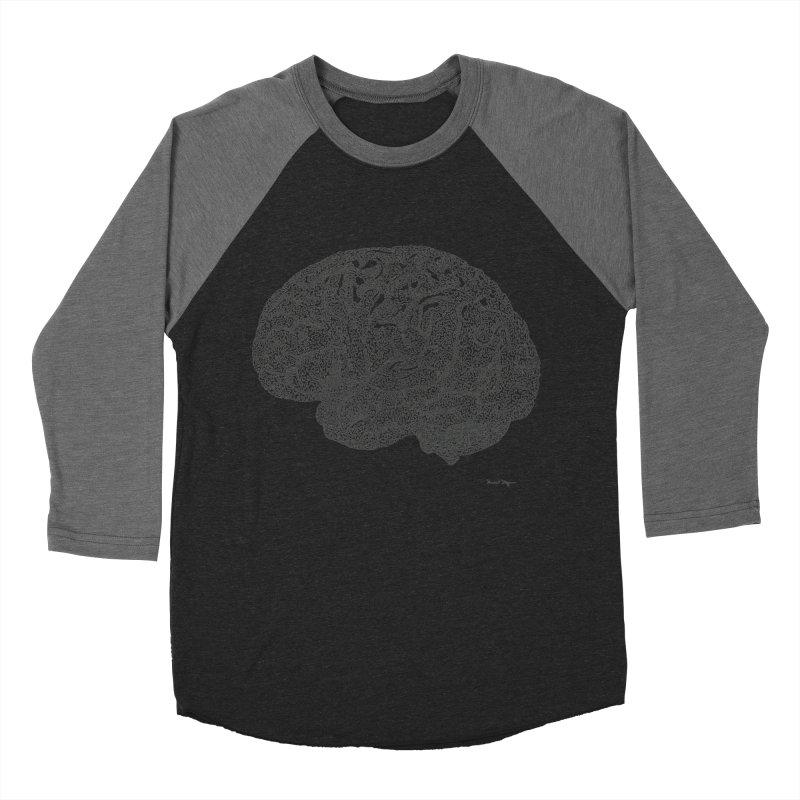 Brain Work Women's Baseball Triblend T-Shirt by Daniel Dugan's Artist Shop