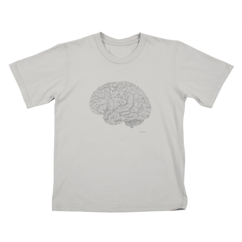 Brain Work Kids T-shirt by Daniel Dugan's Artist Shop